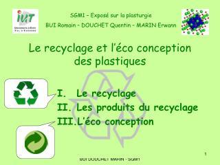 Le recyclage et l'éco conception des plastiques
