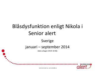 Blåsdysfunktion  enligt Nikola i Senior alert