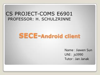 SECE- Android client
