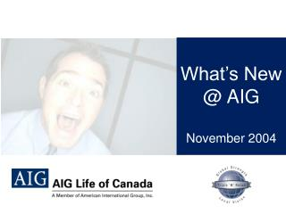 What's New  @ AIG Novem ber 2004