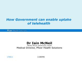 How Government can enable uptake of  telehealth