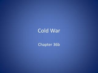 The Cold War   Korean War