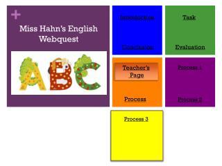 Miss Hahn's English  Webquest