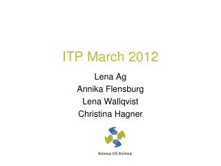 ITP  March  2012