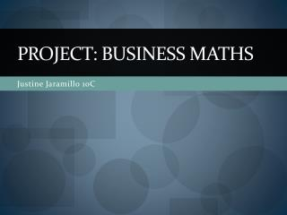 Project: business Maths