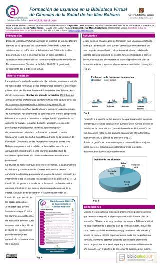 Formaci�n de usuarios en la Biblioteca Virtual de Ciencias de la Salud de las Illes Balears