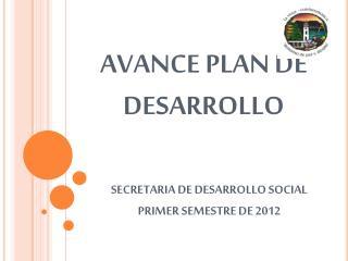 AVANCE PLAN DE DESARROLLO