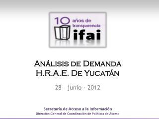 Análisis de  Demanda H.R.A.E. De  Yucatán