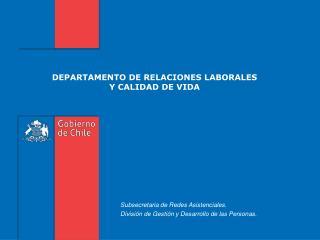 DEPARTAMENTO DE RELACIONES LABORALES Y CALIDAD DE VIDA