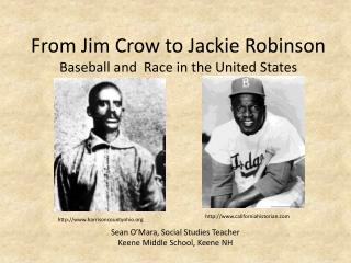 From Jim Crow to Jackie Robinson Baseball and  Race in the United States