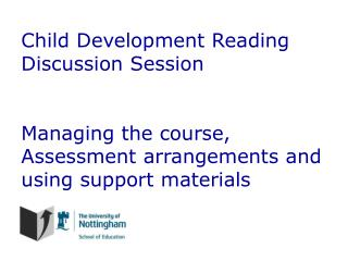 Child Development Reading Discussion Session