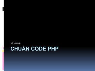 Chuẩn  code  php