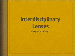Interdisciplinary Lenses