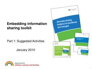 Embedding information sharing toolkit