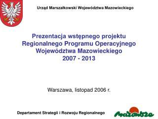 Warszawa, listopad 2006 r.