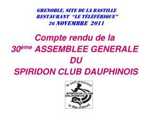 """Grenoble, site de la Bastille  restaurant  """"Le Téléférique""""  26  novembre  2011"""
