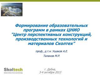 г. Дубна,  3-4 октября 2013