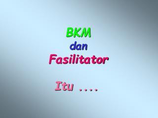 BKM dan  Fasilitator Itu ....