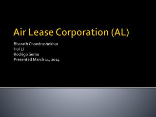 Air Lease Corporation (AL)