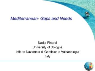 Mediterranean- Gaps and Needs
