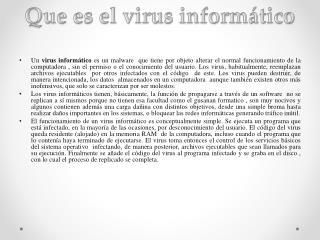 Que es el virus informático
