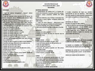 SECCIÓN PREESCOLAR CICLO ESCOLAR 2014 – 2015 MATERNAL