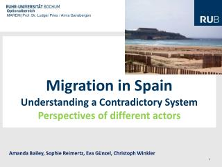 Migration  in Spain Understanding a  Contradictory  System Perspectives of different actors