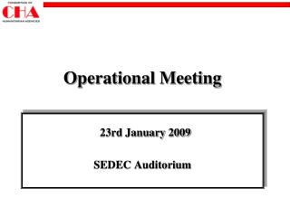 Operational Meeting