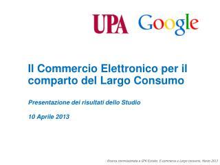 Il  Commercio Elettronico  per  il comparto  del Largo  Consumo
