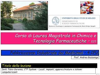 Prof. Andrea Gazzaniga