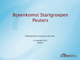 Bijeenkomst Startgroepen Peuters