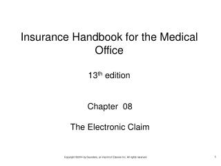Chapter  08 The Electronic Claim