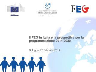 Il FEG in Italia e la prospettiva per la programmazione 2014/2020