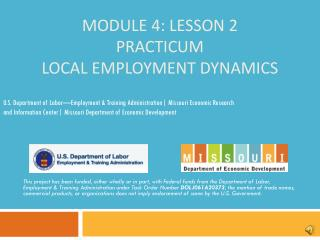 Module 4: Lesson 2 Practicum Local Employment Dynamics