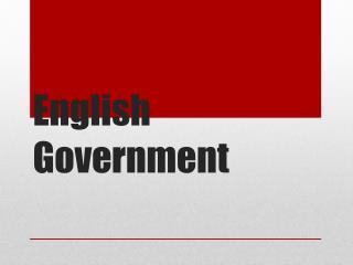 English Government