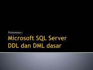 Microsoft SQL Server DDL dan DML dasar