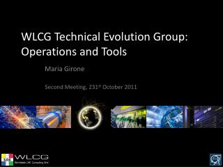 WLCG Technical Evolution Group:  Operations and Tools