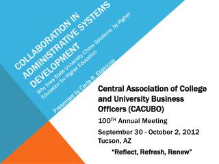 Collaboration in administrative systems development
