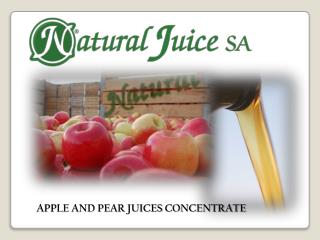 APPLE AND PEAR  JUICES  CONCENTRATE