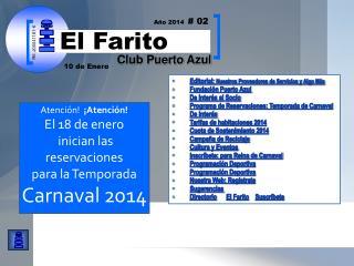 Editorial:  Nuestros Proveedores de Servicios y Algo  M ás Fundación Puerto Azul