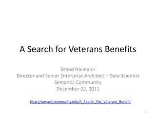 A  Search for Veterans Benefits