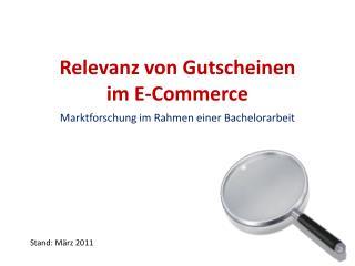 Relevanz von Gutscheinen  im E-Commerce