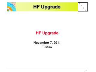 HF  Upgrade