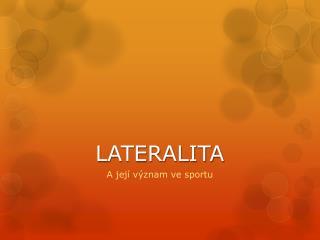LATERALITA
