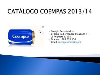 CATÁLOGO COEMPAS 2013/14