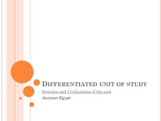 Differentiated unit of study