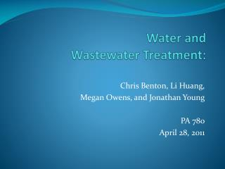Water and  Wastewater Treatment: