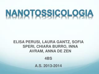 NANOTOSSICOLOGIA