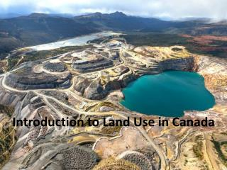 Introduction to Land Use in Canada