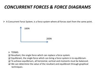 CONCURRENT FORCES & FORCE DIAGRAMS